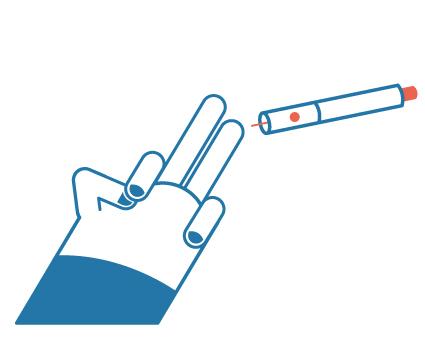 Prik in de zijkant van de vingertop van uw middelvinger of ringvinger